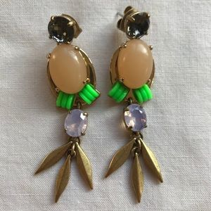 Jcrew cluster chandelier earrings